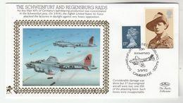 1993 GB Very Ltd EDITION COVER Anniv USAF SCHWEINFURT RAID WWII British Forces Event Cambridge Stamps Churchill Aviation - WW2