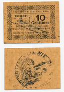 1914-1918 // ALGERIE // DOUERA // 10 Centimes - Bons & Nécessité