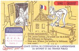 B Bt/ Buvard Batiment CCC A  (Format 21 X 13.5)  (N= 3) - Buvards, Protège-cahiers Illustrés