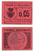 1914-1918 // ALGERIE // MILIANA // 5 Centimes - Notgeld