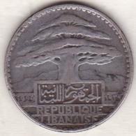 LIBAN/LIBANON. 50 PIASTRES 1929 . ARGENT - Lebanon
