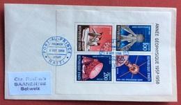 TEMATICA COSMONAUTICA REPUBBLICA DI HAITI  BUSTA  CON FOGLIETTO ANNO GEOFISICO 1957-58 PORT AU PRINCE 8/10/1958 - Fotografia