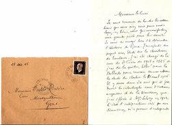 2 LETTRES Du CHANOINE CONTRASTEY à L'ABBE RIVIERE CURE De MONTGUILHEM 1945+1946 - Zonder Classificatie