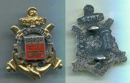 D89 INSIGNE TRAIN 9° Régiment De Commandement Et De Soutien, 2 Pontets - Esercito