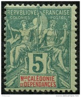 Nouvelle Caledonie (1892) N 44 * (charniere) - Unused Stamps