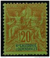 Nouvelle Caledonie (1892) N 47 * (charniere) - Ungebraucht