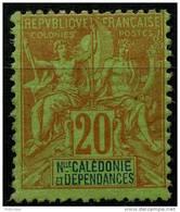 Nouvelle Caledonie (1892) N 47 * (charniere) - Unused Stamps