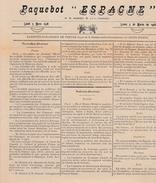 Paquebot Espagne - Radiotélégramme De Presse 05.03.1928 - Français & Espagnol - Maritime & Navigational