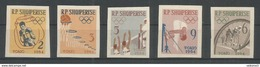 ALBANIA - MNH - Sport - Olympic Games - Tokyo 1964 - Imperf. - Cut - Soccer