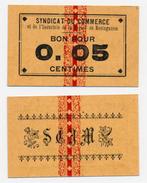 1914-1918 // ALGERIE // SYNDICAT Du COMMERCE De MOSTAGANEM // 5 Cts - Bons & Nécessité