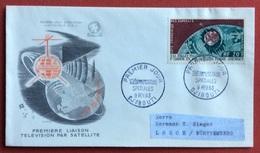 TEMATICA COSMONAUTICA COLONIE FRANCESI COSTA DEI SOMALI  EMISSIONE PER SATELLITE TELECOMUNICAZIONI SPAZIALI 1963 - Fotografia