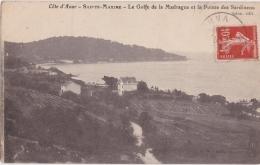 Cpa Sainte Maxime - Le Golfe De La Madrague Et La Pointe Des Sardineou - Sainte-Maxime