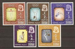 Dubai - 1964 - Gymnastique Olympique - Petit Lot De 5 Timbres MNH - Dubai