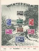 BELGIQUE - WINTERHULP 1943 - BRUXELLES 15.11.43. / TBS - Foglietti