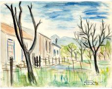 LAVELANET  09    PASTEL DE VERQUIN HENRY   1955 - Pastels