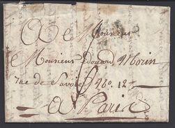 FR - Lettre De Macon Du 19 Décembre 1823 En Port Dû, Taxe Manuscrite 6 Décimes, Pour Paris - B/TB - - Marcophilie (Lettres)