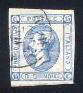 1863 15 CENT. LITOGRAFICO I TIPO USATO LUSSO - USED - LUXUS - Usati