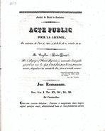 FACULTE DROIT TOULOUSE: ACTE PUBLIC POUR LA LICENCE De M. Louis-Joseph BAZILLAC Né à LAPEYRE (Dpt 65) En 1834 - Oude Documenten
