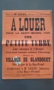 50 - LA HAYE-PESNEL - Affiche De Location Petite Terre 1926 - Village De Blandouet - Affiches