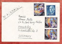 Luftpost, MiF Toledo U.a., Nach Hamburg Ca. 1961 (44361) - 1931-Heute: 2. Rep. - ... Juan Carlos I