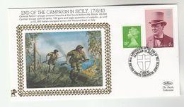 1993 GB Very Ltd EDITION COVER Anniv BRITISH  & US Capture MEDINA SICILY WWII General Patton Event Stamp Italy Churchill - WW2