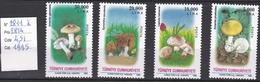 N° 2811  à 2814, Timbres Neufs ** Champignon  Turquie - Champignons