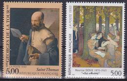 Série De 2 Timbres-poste Neufs** Série Artistique Saint-Thomas Les Muses - N° 2828-2832 (Yvert) - France 1993 - Francia
