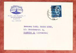 Illustrierte Karte Leuchtturm, EF Franco, Cadiz Nach Hamburg 1965 (44362) - 1931-Heute: 2. Rep. - ... Juan Carlos I