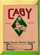 Protege Cahier CABY  Jambons Conserves Saucissons - Protège-cahiers