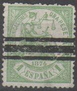 Spagna 1874 - Giustizia 1 Pt. - 1873-74 Reggenza