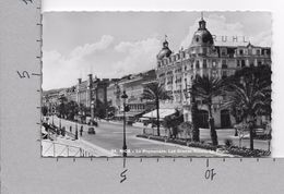 CARTOLINA VG FRANCIA - NICE NIZZA - La Promenade - Les Grands Hotels - Le Palais - 9 X 14 - ANN. 1953 - Nizza