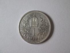 Austria-Hungary 1 Korona 1893 Silver Coin - Austria