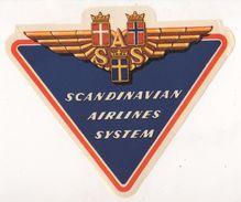 SCANDINAVIAN AIRLINES SYSTEM (SAS AIRLINE) LABEL - Sonstige