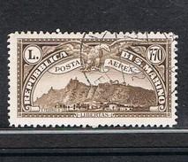 1931 SAN MARINO Posta Aerea.  LIRE 7,70 VEDUTA DI SAN MARINO USATO - Poste Aérienne
