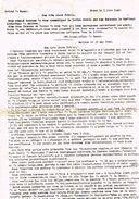 SERMON DU 3/6/1940  Concernant Leopold 3  Et L'enlevement Des Cloches - 1939-45