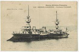 TRANSPORTS MILITARIA BATEAUX NAVIRE MARINE MILITAIRE NATIONALE GUERRE Croiseur Cuirassé AMIRAL CHARNER N 258 Marius Bar - Guerra
