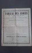 14 - CAEN - Tableau Des Avoués 1934-1935 - Affiches