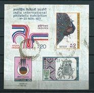 1973 India Complete M/Sheet Stamp Show New Delhi Used/gebruikt/oblitere - Blokken & Velletjes
