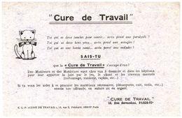 (Tapp  1)  Buvard  Cure De Travail  (Format 21 X 13.5) - Blotters