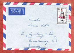 Luftpost, EF Tracht, Las Palmas Nach Hamburg 1967 (44374) - 1931-Heute: 2. Rep. - ... Juan Carlos I