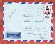 Luftpost, EF Tracht, Las Palmas Nach Hamburg 1968 (44375) - 1931-Heute: 2. Rep. - ... Juan Carlos I