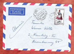 Luftpost, EF Tracht, Las Palmas Nach Hamburg 1967 (44376) - 1931-Heute: 2. Rep. - ... Juan Carlos I