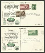 """2 Cartes / Card Pub """" Laboratoires IONYL """"  / Le Caire...les Pyramides - Le Masque D'or De Tut-ank-amon - Egypt"""