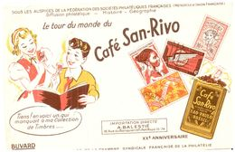 (Tapp  1)  Buvard Café San Rivo  (Format 21 X 13.5) - Coffee & Tea