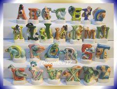 Alphabet Des Animaux ... Série Complète De 26 Fèves ... Ref AFF : 25-1998...(pan 0039) - Animals