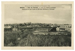 PARANÁ -PONTA GROSSA -  Etat Do Paraná - Ville De Ponta Grossa ( Ed. Mission Brasilienne De Propagande) Carte Postale - Curitiba