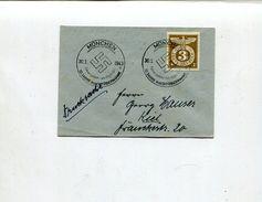 """Deutsches Reich / 1943 / Mi. 830 EF A. Bf. SSt. Muenchen """"10 Jahre Machtuebernahme"""" (00795) - Alemania"""