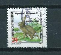 2002 Tunisia Animals,dieren,tiere,rabbit Used/gebruikt/oblitere - Tunesië (1956-...)