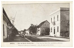 SANTA CATARINA -JOINVILLE - État De Santa Catharina-Une Rue De Joineville.( Anciene Colonie)carte Postale - Florianópolis