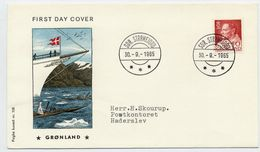 GREENLAND 1965 King Frederik IX Definitive 50 Øre On FDC. Michel 65 - FDC